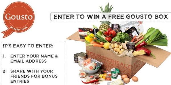 Giveaway: Win a Gousto Box of Three Meals for Two People (RRP: £42)