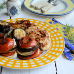 La Plancha: Chilli Peppered Chicken Steaks & Mediterranean Goat's Cheese Vegetable Stacks