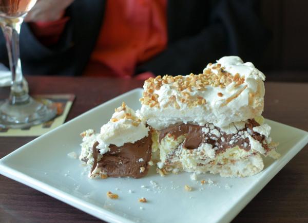 Hazelnut and Chocolate Pavlova