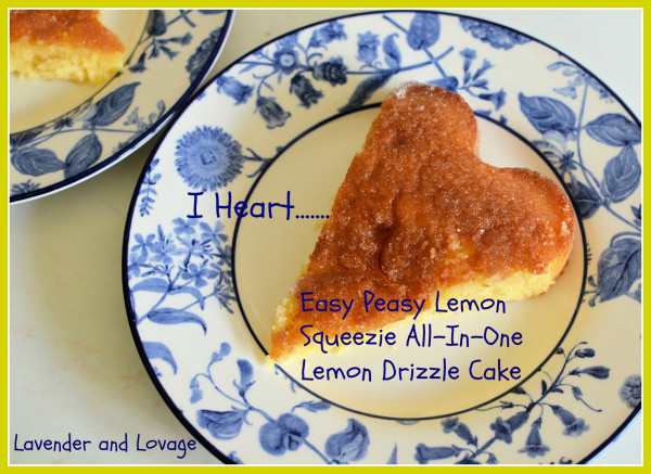 Tea Time Recipe: Easy Peasy Lemon Squeezie All-In-One Lemon Drizzle Cake + Giveaway!