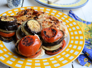 Mediterranean Goat's Cheese Vegetable Stacks