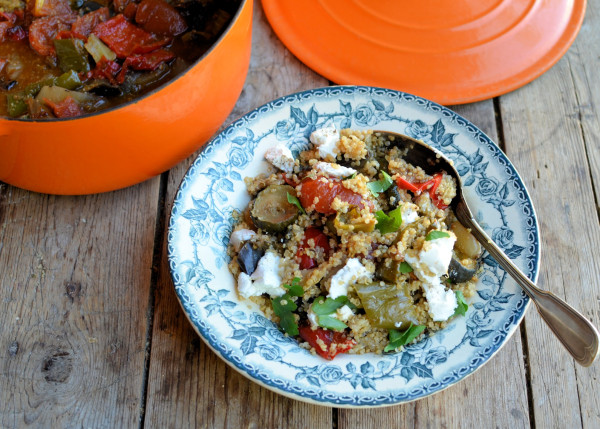 Mediterranean Quinoa Salad with Goat's Cheese