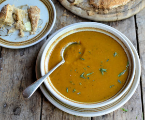 Spiced Roast Butternut Squash Soup