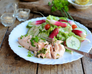 Lemon & Herb Poached Salmon