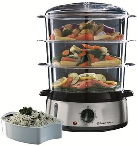 Russell Hobbs 19270 3-Tier Stainless Steel Food Steamer