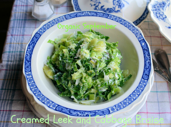 Image: Creamed Cabbage and Leek Braise