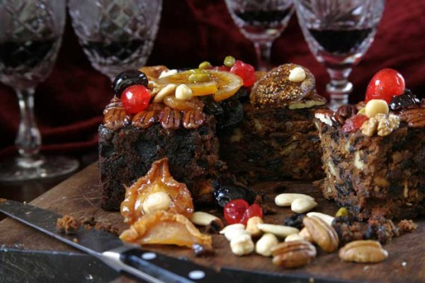 Glazed Dried Fruit Cake