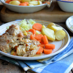 Frugal Family Fare: Roast Chicken & Ham Pie with a Suet Dumpling Crust