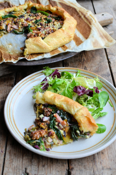 Galette served with salad