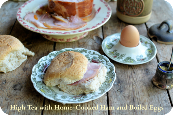 High Tea with Ham and Boiled Eggs