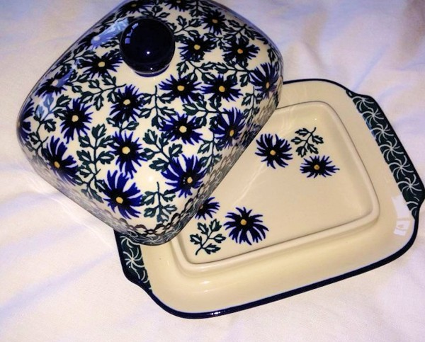 Hand Decorated Butter Dish