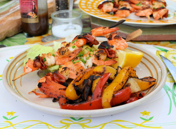 Cuisine Plancha | Seafood Chorizo Skewers And Spicy Pepper Stir Fry Recipes With