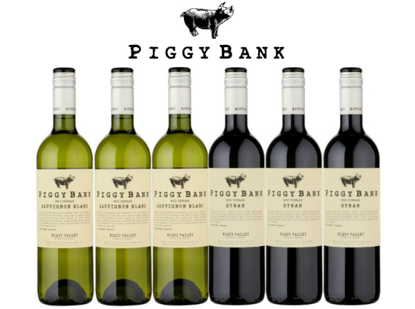 Giveaway: Win a Case of 6 Bottles of Piggy Bank Wines RRP: £47:94