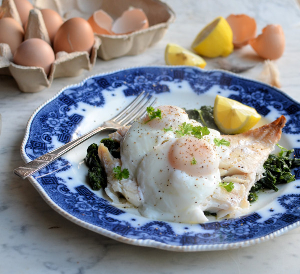 Sous Vide Smoked Haddock and Eggs with Spinach