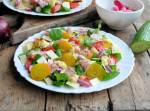 Yellow Beetroot Winter Salad