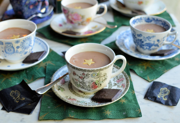 Festive Fun and Frivolity! Tea Cup After Eight Chocolate Mint Mousse