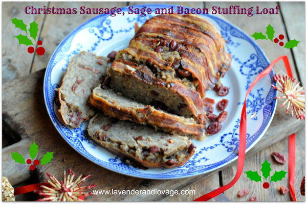 A Countdown to Christmas Recipe: Christmas Sausage, Sage and Bacon Stuffing Loaf