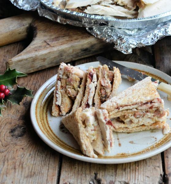 The Great Christmas Turkey, Stuffing, Bacon & Cranberry Club Sandwich