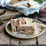 Turkey, Stuffing, Bacon & Cranberry Club Sandwich