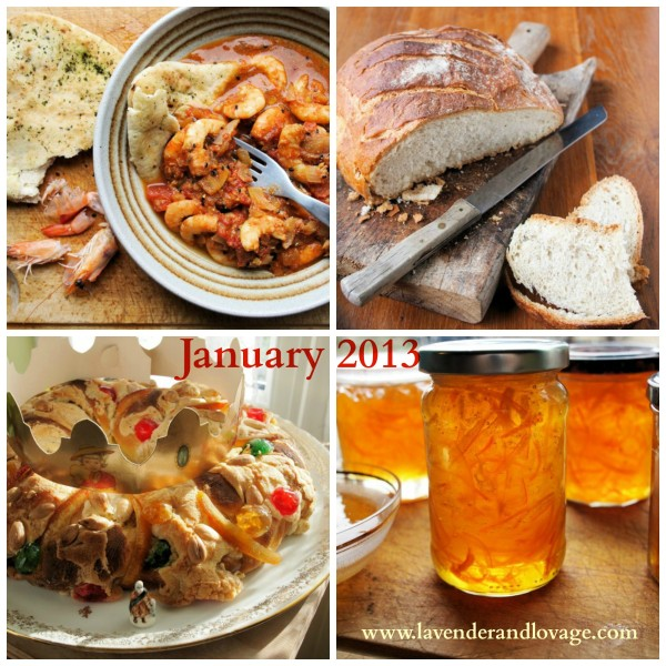 The Lavender and Lovage Calendar of Recipes for 2013