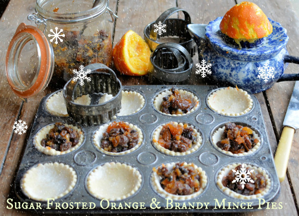 Sugar Frosted Orange & Brandy Mince Pies