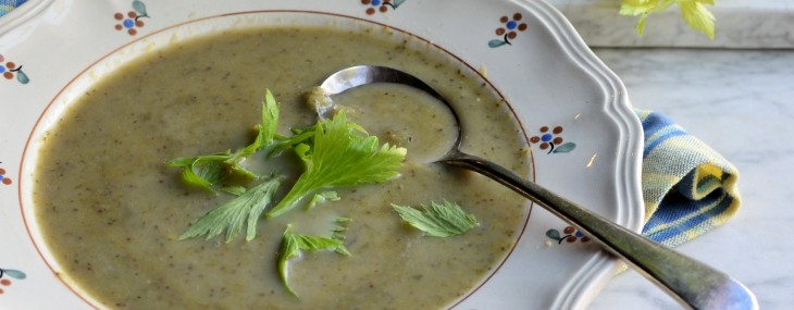 Winter Soup Day and Weekly Meal Planner: 5:2 Diet Celery and Leek Soup (80 calories)