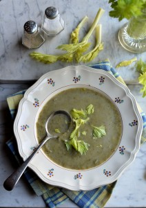 Celery and Leek Soup (80 calories)