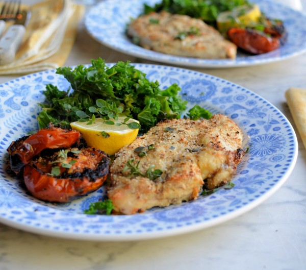Tasty Low Calorie 52 Diet Recipe Garlic Herb And Parmesan Crusted Chicken Schnitzels