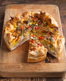 Bacon, Curried Egg and Ricotta Pie