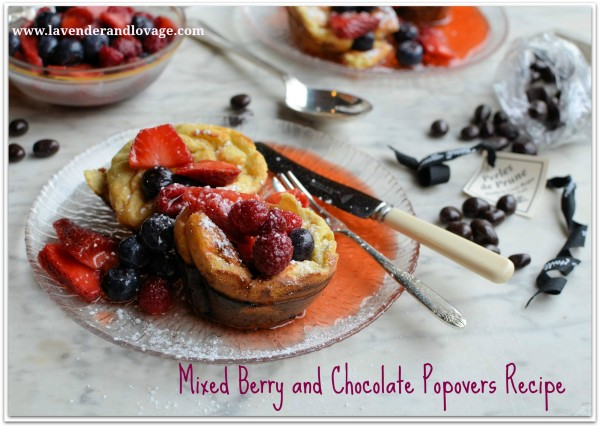 Mixed Berry and Chocolate Popovers