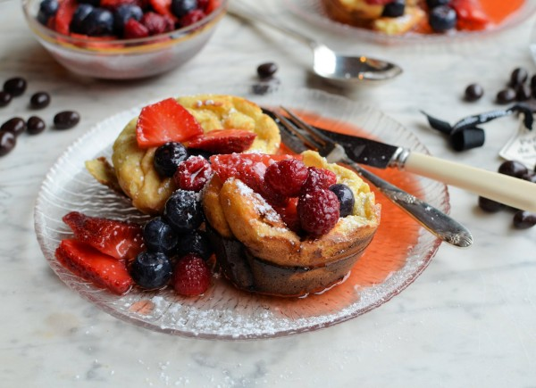 Popovers, Puddings and Chocolate! Mixed Berry and Chocolate Popovers Recipe