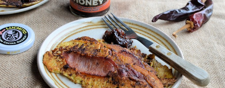 Something Different for Pancake Day! Bacon and Banana Pancake Strips with Smoked Chilli Honey (Recipe)