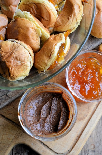 Brioche, Pancakes and Marmalade March! Chocolate Marmalade Brioche Bread and Butter Pudding