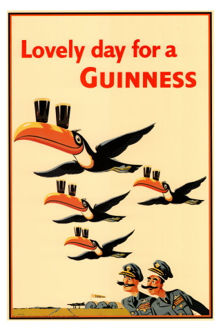 Vintage Toucon Guinness Advert