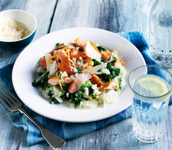 Risotto with trout & kale