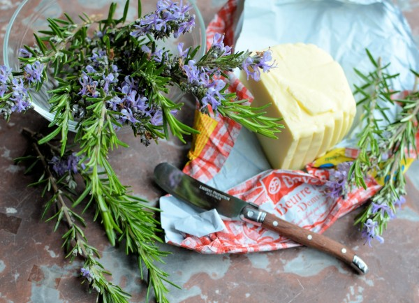 Floral and Flavoured Butter: Rosemary Flower Butter with Grana Padano Cheese