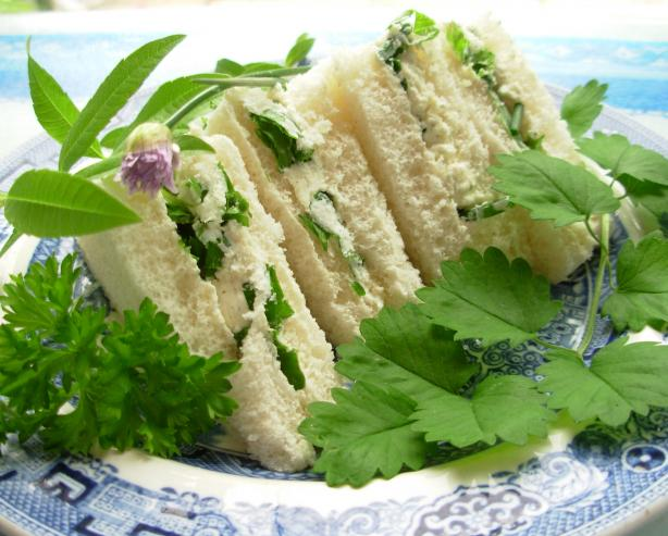 Cream Cheese and Herb Sandwiches