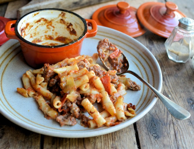 "The Big Bang Theory, Pantry Staples and ""Beefaroni"" Pasta Bake"