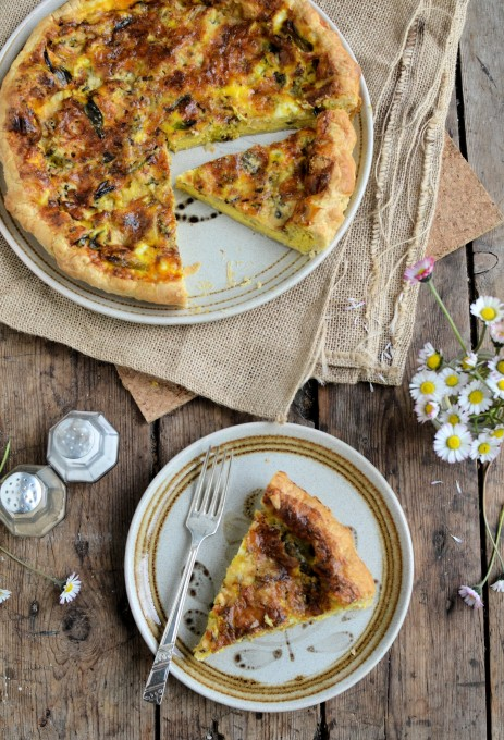 A Good Friday Pie: Wild Garlic and Blue Wensleydale Tart