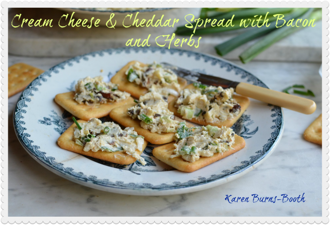 Cream Cheese & Cheddar Spread with Bacon and Herbs