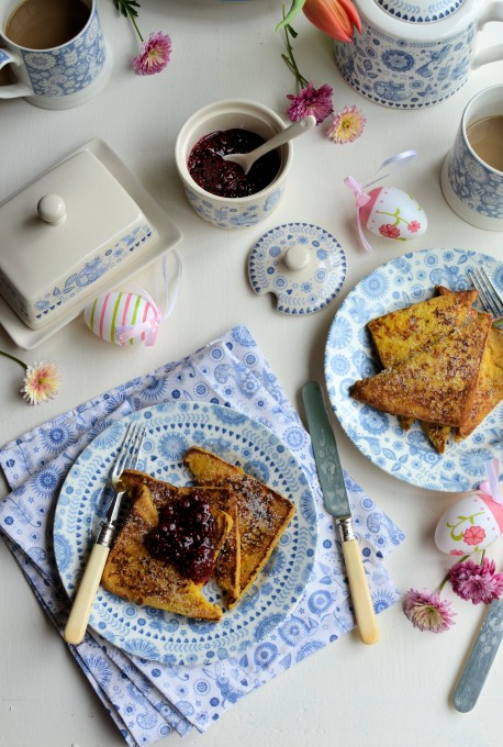 "Easter Eggy Bread: Raspberry & Vanilla ""Pain Perdu"" (French Toast)"