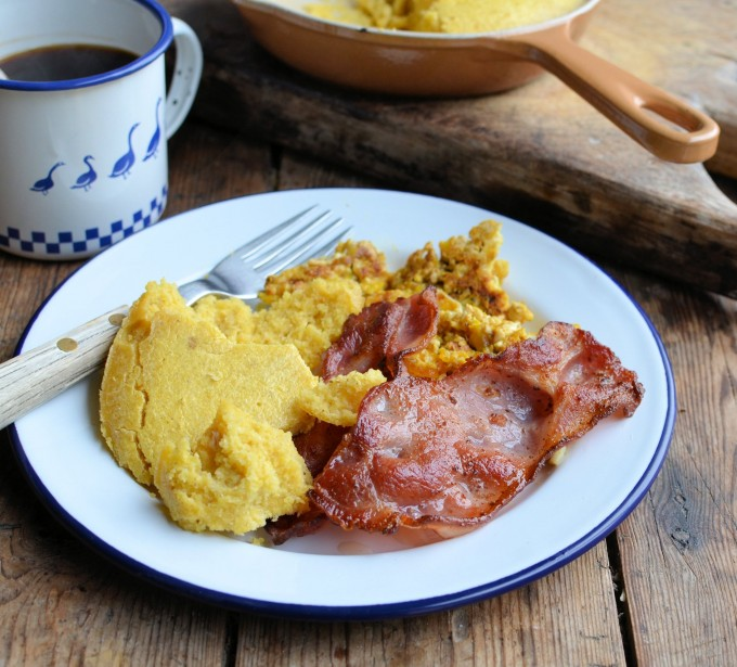 "A Cowboy's Breakfast! ""Hillybilly County Fair"" Cornbread Recipe"