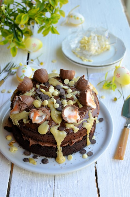 Creme Egg Chocolate Drizzle Cake