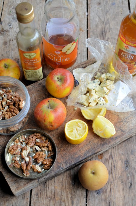 English Apple and Walnut Salad