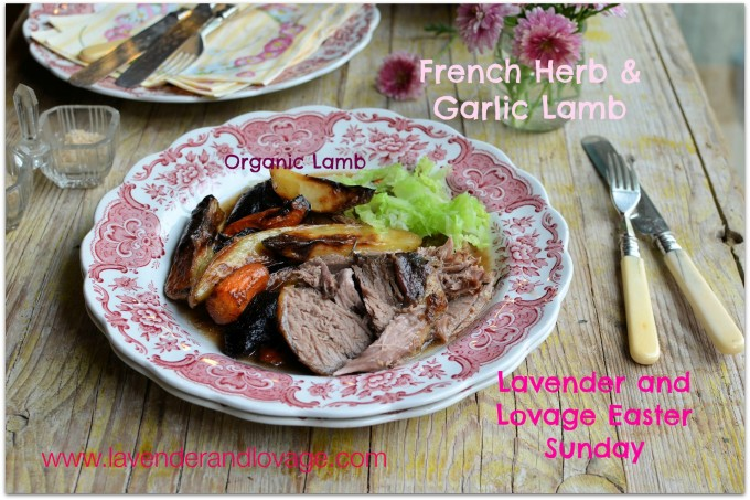 French garlic and herb roast lamb