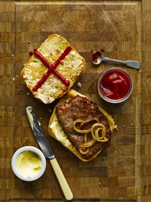 St George's Day Sausage Sarnie