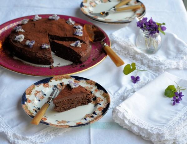 Organic Chocolate Truffle Cake