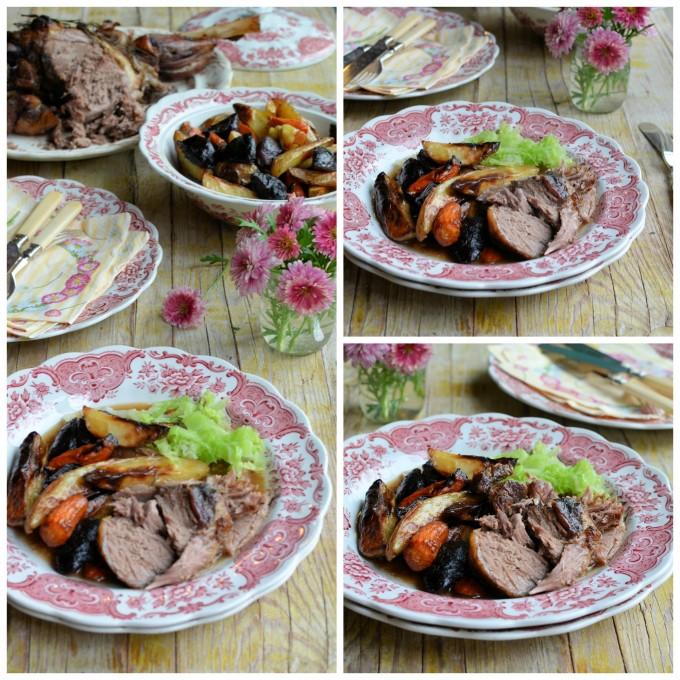 French Herb and Garlic Roast Lamb