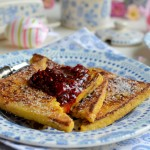 Vanilla and Rasberry Pain Perdu for an Easter Breakfast