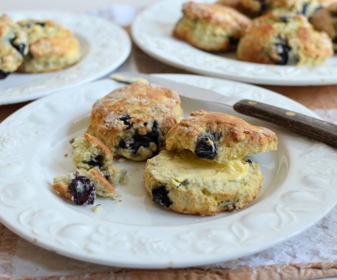Baking with Mum! Fresh Blueberry Scones Recipe